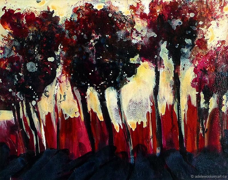 © Adele Woolsey - Tree Line Study 2