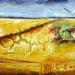 © Adele Woolsey - Abstracted Prairie Landscape