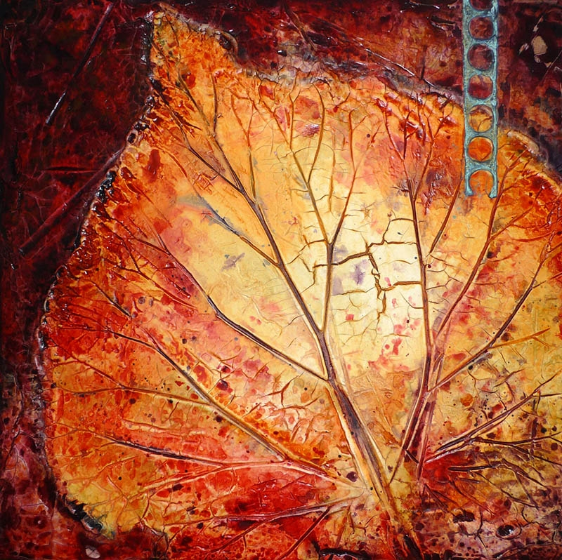 © Adele Woolsey - Leaf with Patina Insert